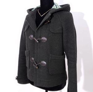 LACOSTE Wool Jacket Dark Army Green Grey